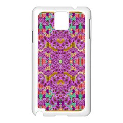 Fantasy Flower Festoon Garland Of Calm Samsung Galaxy Note 3 N9005 Case (white) by pepitasart