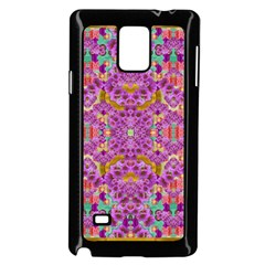 Fantasy Flower Festoon Garland Of Calm Samsung Galaxy Note 4 Case (black) by pepitasart