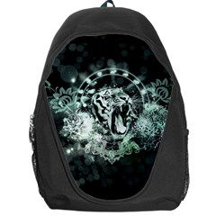 Awesome Tiger In Green And Black Backpack Bag by FantasyWorld7