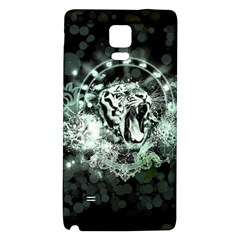 Awesome Tiger In Green And Black Galaxy Note 4 Back Case by FantasyWorld7