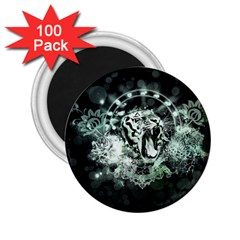 Awesome Tiger In Green And Black 2 25  Magnets (100 Pack)  by FantasyWorld7