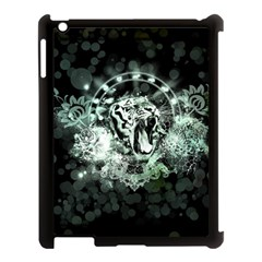 Awesome Tiger In Green And Black Apple Ipad 3/4 Case (black) by FantasyWorld7