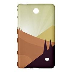 Sky Art Silhouette Panoramic Samsung Galaxy Tab 4 (8 ) Hardshell Case  by Sapixe