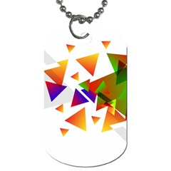 Abstract Pattern Background Design Dog Tag (two Sides)