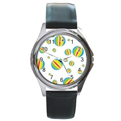 Balloon Ball District Colorful Round Metal Watch by Sapixe