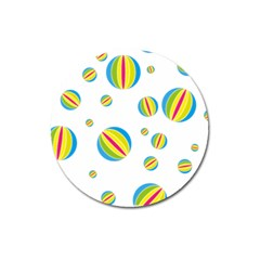 Balloon Ball District Colorful Magnet 3  (round) by Sapixe
