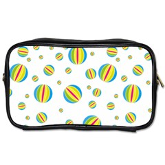 Balloon Ball District Colorful Toiletries Bags 2 Side by Sapixe