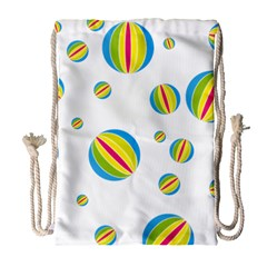 Balloon Ball District Colorful Drawstring Bag (large)