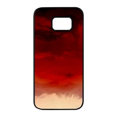 Flaming Skies Ominous Fire Clouds Samsung Galaxy S7 Edge Black Seamless Case