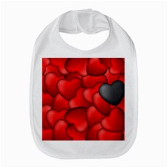 Form Love Pattern Background Bib