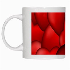 Form Love Pattern Background White Mugs