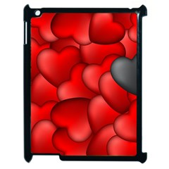 Form Love Pattern Background Apple Ipad 2 Case (black) by Sapixe
