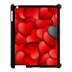 Form Love Pattern Background Apple Ipad 3/4 Case (black)