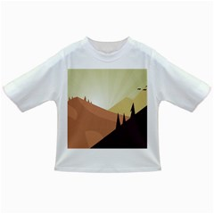 Sky Art Silhouette Panoramic Infant/toddler T Shirts