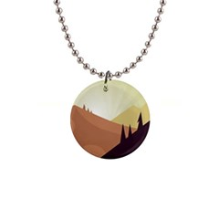 Sky Art Silhouette Panoramic Button Necklaces by Sapixe