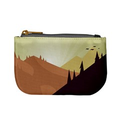 Sky Art Silhouette Panoramic Mini Coin Purses by Sapixe