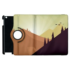 Sky Art Silhouette Panoramic Apple Ipad 3/4 Flip 360 Case by Sapixe