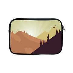 Sky Art Silhouette Panoramic Apple Ipad Mini Zipper Cases by Sapixe