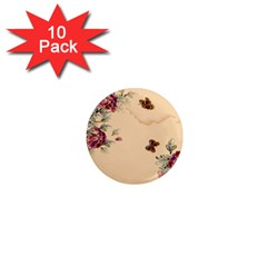 Flower Traditional Chinese Painting 1  Mini Magnet (10 Pack)