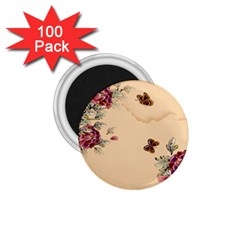 Flower Traditional Chinese Painting 1 75  Magnets (100 Pack)
