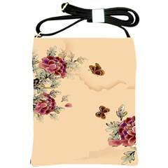 Flower Traditional Chinese Painting Shoulder Sling Bags
