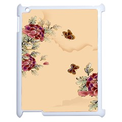 Flower Traditional Chinese Painting Apple Ipad 2 Case (white) by Sapixe