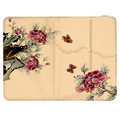 Flower Traditional Chinese Painting Samsung Galaxy Tab 7  P1000 Flip Case