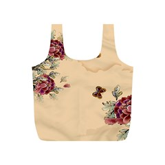 Flower Traditional Chinese Painting Full Print Recycle Bags (s)  by Sapixe