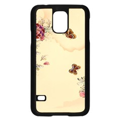 Flower Traditional Chinese Painting Samsung Galaxy S5 Case (black) by Sapixe