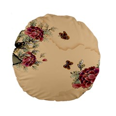 Flower Traditional Chinese Painting Standard 15  Premium Flano Round Cushions