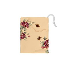 Flower Traditional Chinese Painting Drawstring Pouches (xs)  by Sapixe