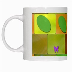 Easter Egg Happy Easter Colorful White Mugs