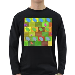 Easter Egg Happy Easter Colorful Long Sleeve Dark T Shirts by Sapixe