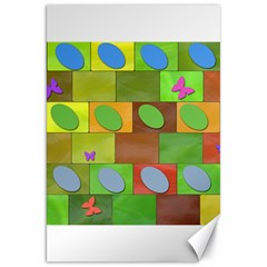 Easter Egg Happy Easter Colorful Canvas 20  X 30   by Sapixe