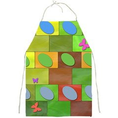 Easter Egg Happy Easter Colorful Full Print Aprons by Sapixe