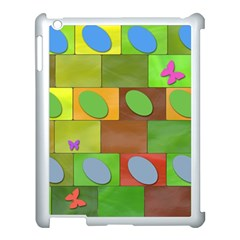 Easter Egg Happy Easter Colorful Apple Ipad 3/4 Case (white) by Sapixe