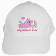Long Distance Lover   Cute Unicorn White Cap by Valentinaart