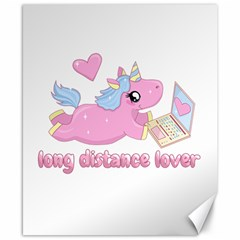 Long Distance Lover   Cute Unicorn Canvas 8  X 10  by Valentinaart
