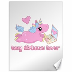 Long Distance Lover   Cute Unicorn Canvas 18  X 24   by Valentinaart