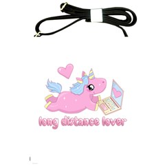 Long Distance Lover   Cute Unicorn Shoulder Sling Bags by Valentinaart