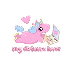 Long Distance Lover   Cute Unicorn 5 5  X 8 5  Notebooks by Valentinaart