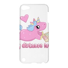 Long Distance Lover   Cute Unicorn Apple Ipod Touch 5 Hardshell Case by Valentinaart