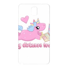 Long Distance Lover   Cute Unicorn Samsung Galaxy Note 3 N9005 Hardshell Back Case