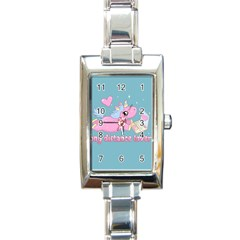 Long Distance Lover   Cute Unicorn Rectangle Italian Charm Watch by Valentinaart