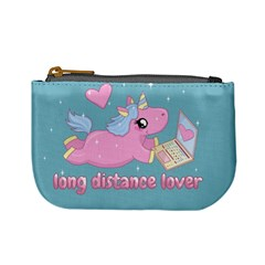 Long Distance Lover   Cute Unicorn Mini Coin Purses by Valentinaart