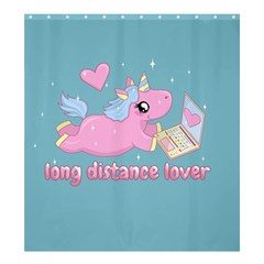 Long Distance Lover   Cute Unicorn Shower Curtain 66  X 72  (large)  by Valentinaart