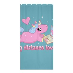 Long Distance Lover   Cute Unicorn Shower Curtain 36  X 72  (stall)  by Valentinaart