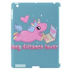 Long Distance Lover   Cute Unicorn Apple Ipad 3/4 Hardshell Case (compatible With Smart Cover)