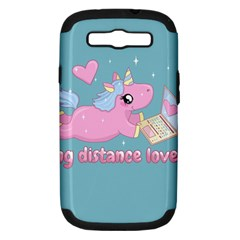 Long Distance Lover   Cute Unicorn Samsung Galaxy S Iii Hardshell Case (pc+silicone) by Valentinaart