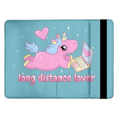 Long Distance Lover   Cute Unicorn Samsung Galaxy Tab Pro 12 2  Flip Case